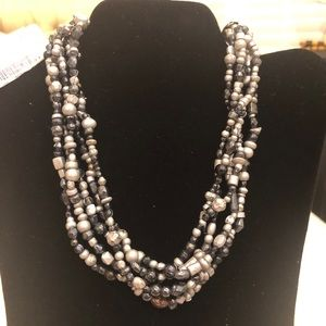 NWT black and gray necklace - Macy's